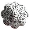 Slider blomma 40mm antiksilver