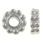 Mellandelar daisy 6mm ljus silver 20st