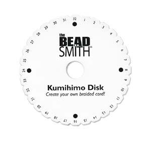 Kumihimo rund platta stor