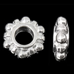 Mellandelar daisy 12mm ljus silver 10st