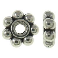 Mellandelar daisy 5mm antiksilver 30st