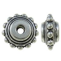 Mellandelar rondeller 10mm antiksilver 10st