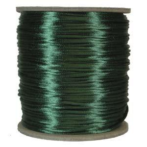 Satintråd 2mm mörkgrön 3 meter