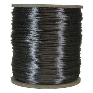 Satintråd 1mm/2mm mörkgrå 3 meter