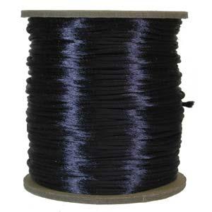 Satintråd 2mm marinblå 3 meter