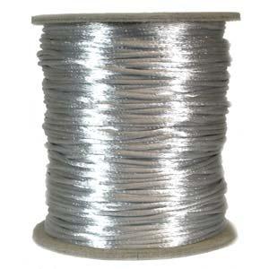 Satintråd 1mm/2mm/3mm silvergrå 3 meter