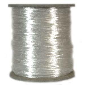 Satintråd 2mm vit 3 meter