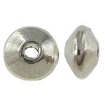 Mellandelar släta rondeller 6mm antiksilver 20st