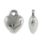Berlocker hjärtan antiksilver 9mm 10st