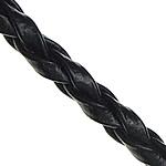 Rem flätad svart 3mm 2m