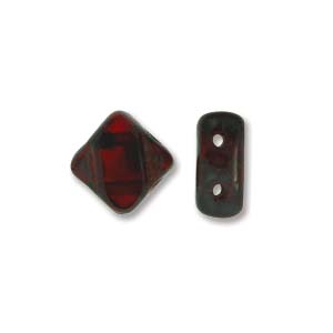 Silky beads Ruby Picasso 40st