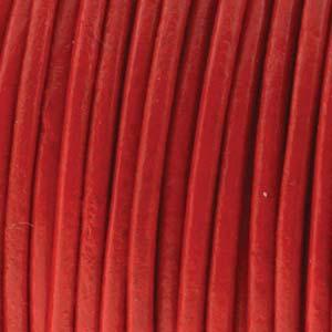 Läderrem 2mm röd 2meter