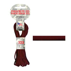 Paracord 325 3mm maroon 6.4m