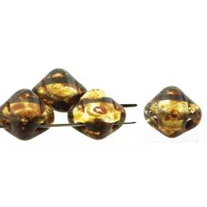 Silky beads Crystal Travertin dark 40st