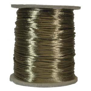 Satintråd 2mm kaffebrun 3 meter