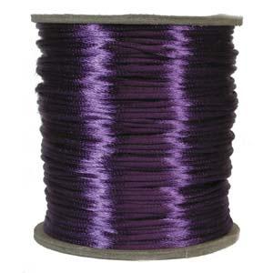Satintråd 2mm lila 3 meter