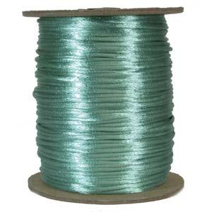 Satintråd 2mm turkos 3 meter