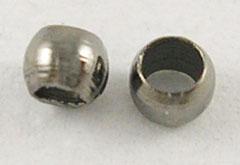 Klämpärlor rundade 2mm svartoxid