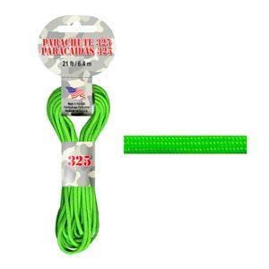Paracord 325 3mm neon grön 6.4m