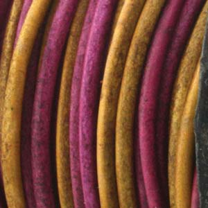 Läderrem 2mm gypsy dyed Irasa 2meter