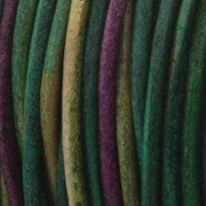 Läderrem 1mm gypsy dyed Kinte 2meter