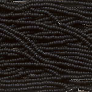 Seedbeads tjeckiska 11/0 jet matte