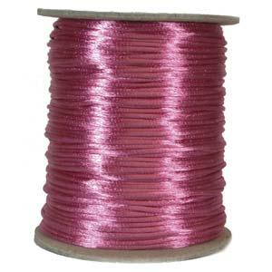 Satintråd 2mm knallrosa 3 meter