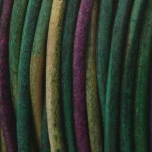 Läderrem 2mm gypsy dyed Kinte 2meter