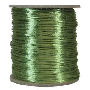 Satintråd 2mm äppelgrön 3 meter