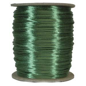 Satintråd 2mm smaragdgrön 3 meter