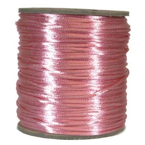 Satintråd 2mm ljusrosa 3 meter