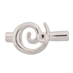 Lås liten swirl innermått 6.2mm ljus silver