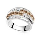Ring platinapläterad CRYSTALLIZED(tm) Element Crystal golden shadow