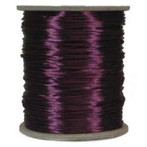 Satintråd 2mm plommonlila 3 meter