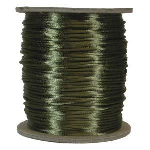 Satintråd 2mm olivgrön 3 meter