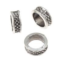 Metallpärlor rutiga ringar innermått 6mm 5st