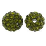 Strasspärla 10mm olivgrön