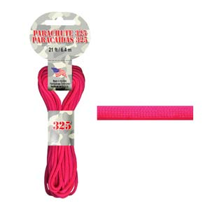 Paracord 325 3mm neonrosa 6.4m