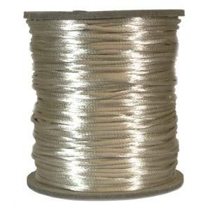 Satintråd 2mm beige 3 meter