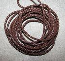 Rem flätad mörkbrun 3mm