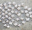 Mellandelar blomma 5mm ljus silver