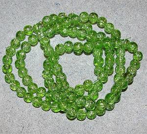 Crackle 8mm limegröna