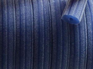 Regaliz gummirem sammet 7x10mm blå 20cm