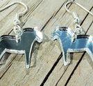 KIT till örhängen med dalahästar 20mm spegelplexi silver