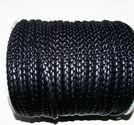 Rem flätad platt svart 8mm 1 meter
