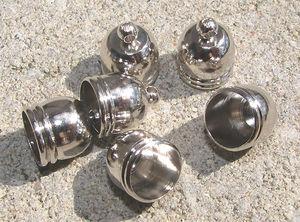 Avslut hylsor runda mörk silver 8mm 6st