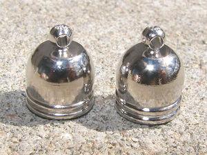 Avslut hylsor runda mörk silver 7.5mm 6st