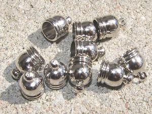 Avslut hylsor runda mörk silver 4.8mm