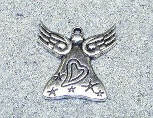 Berlock ängel med hjärta 28mm
