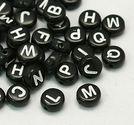 Bokstavspärlor 100st svarta